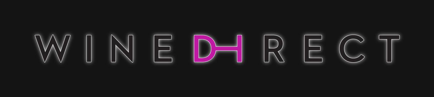 WineDirect logo on a black background with a glow around the logo
