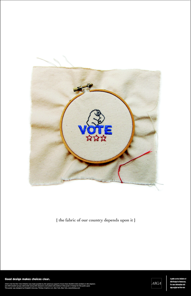 AIGA's Get Out The Vote poster by Elizabeth Amorose