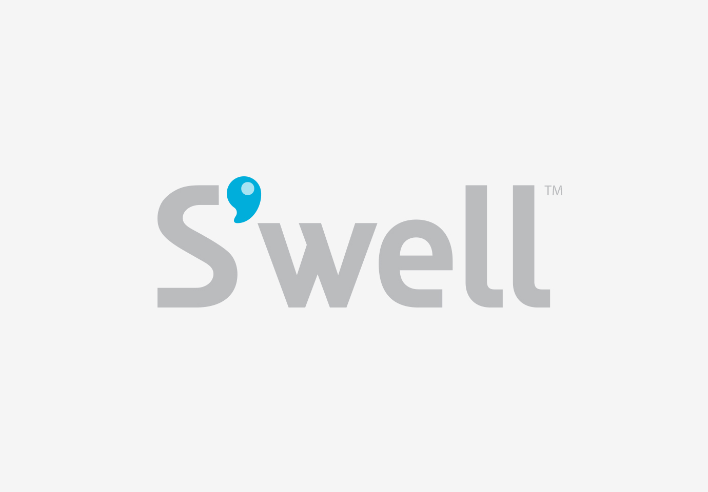 The Swell bottle logo, with light grey type and an apostrophe after the S that mimics a droplet of water.