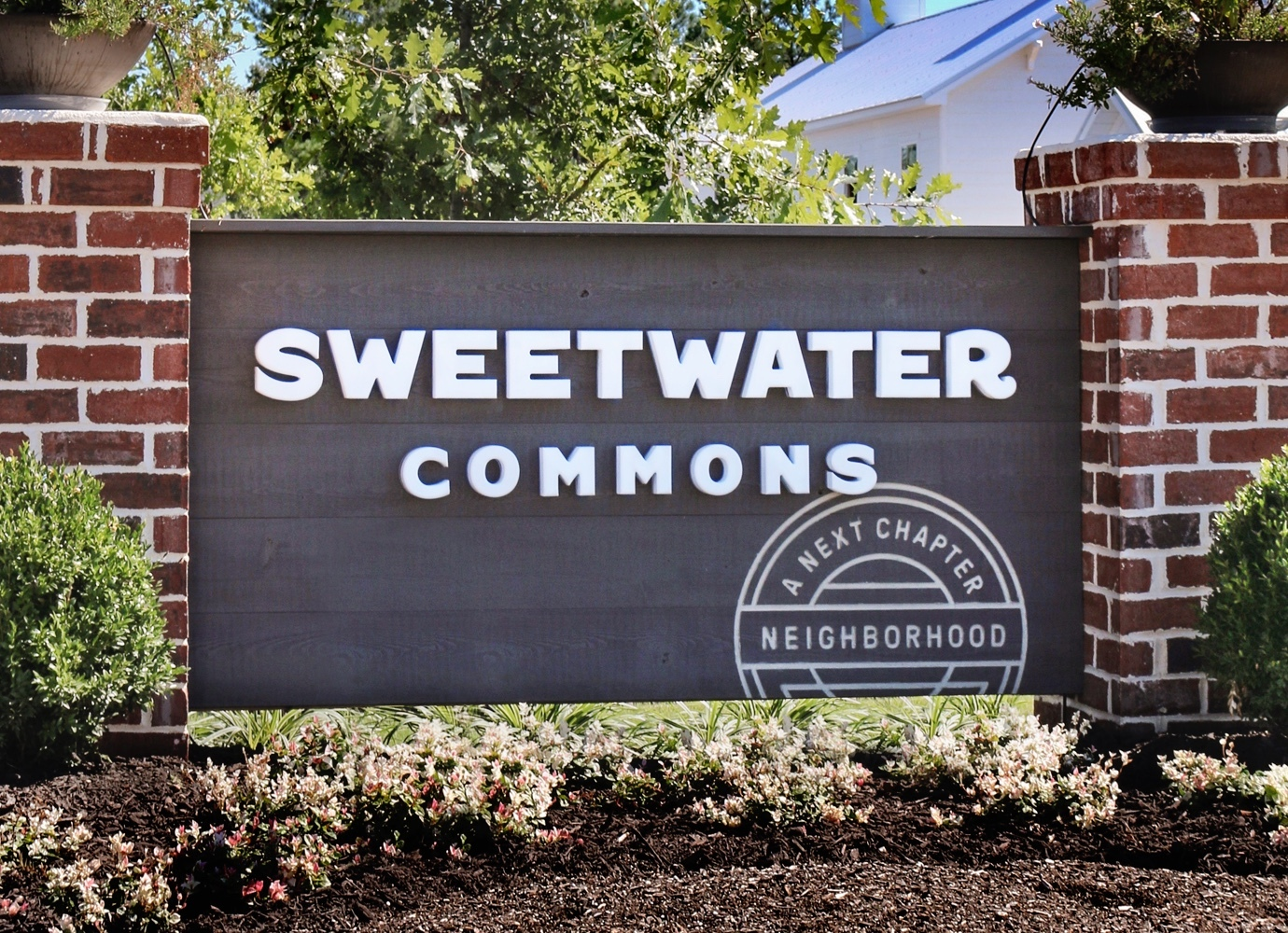 Entry sign at Sweetwater Commons, a Next Chapter neighborhood.