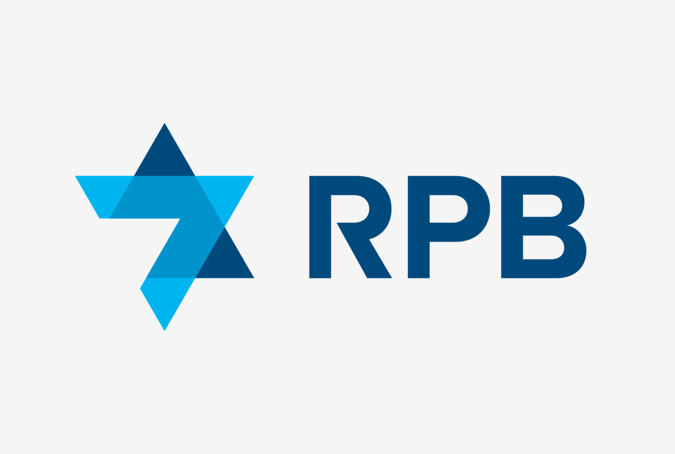 The star-like symbol and logotype for RPB.