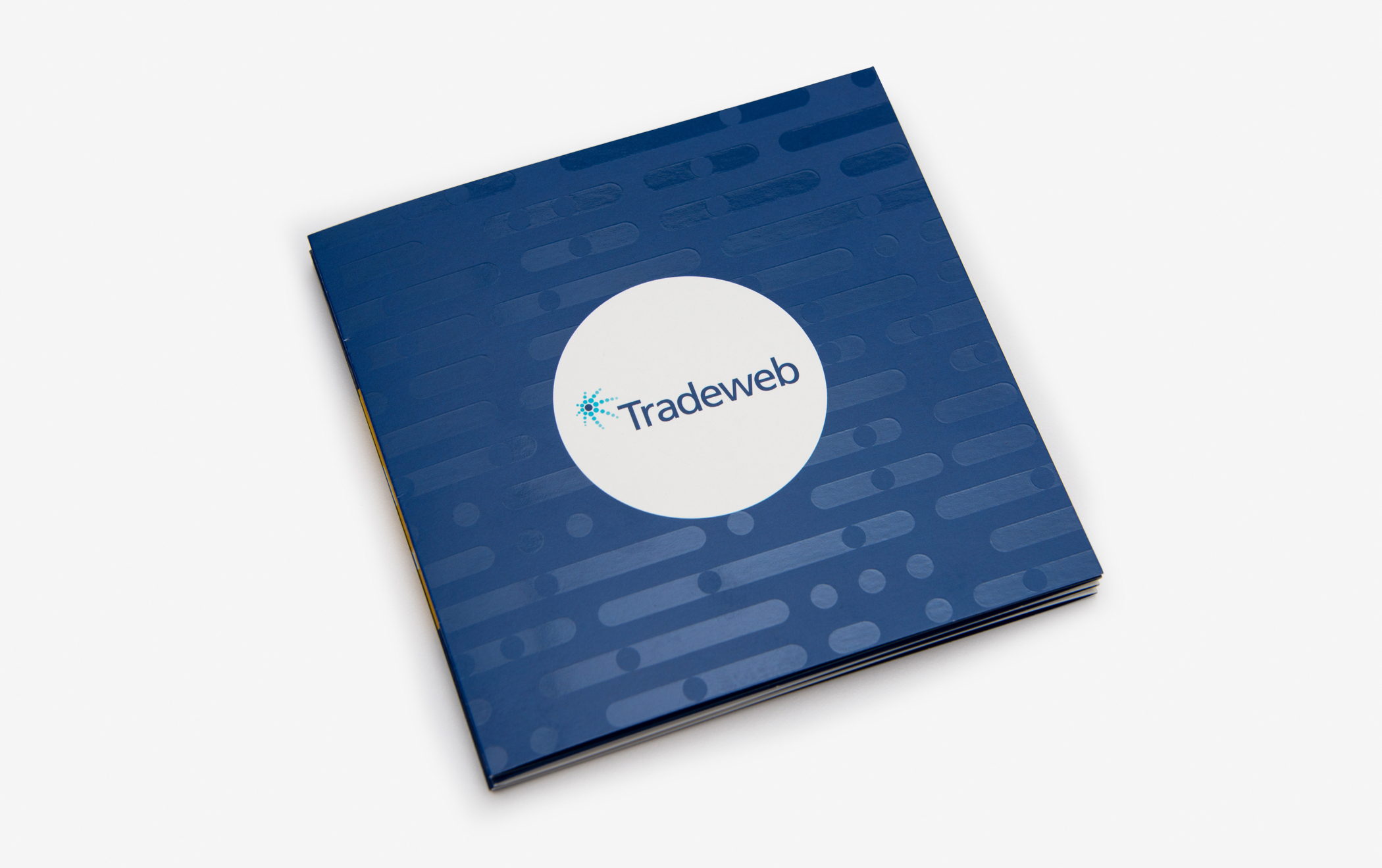 The cover of the Tradeweb employee brand book.