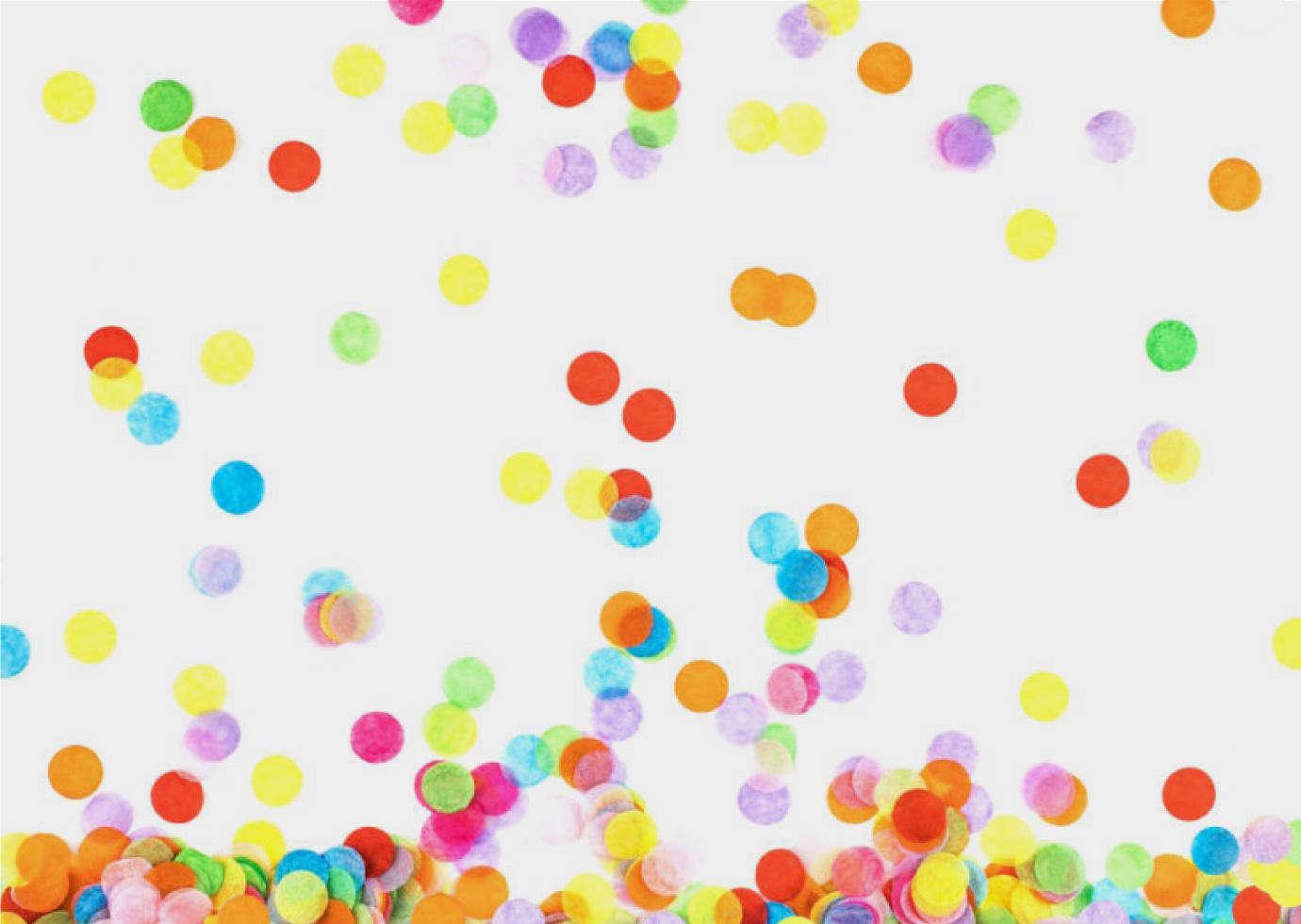 A close up of colorful confetti.