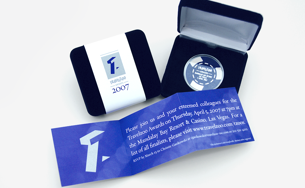 An invitation to the 2007 Travelzoo awards in Las Vegas.